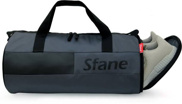 Sfane Separate Shoe Compartment Grey Sports Duffel