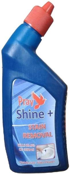 Pray Shine Stain Removal 500ML+250ML (Pack of 2) Liquid Toilet Cleaner