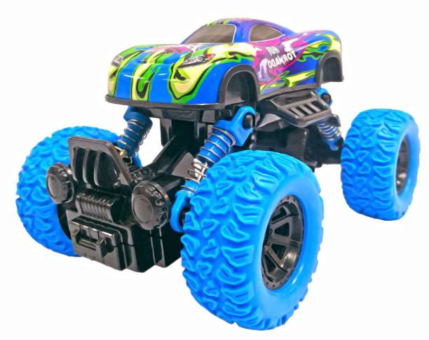 Miss & Chief Pull Back Rock Crawler Monster Truck with Rubber Wheels for Kids