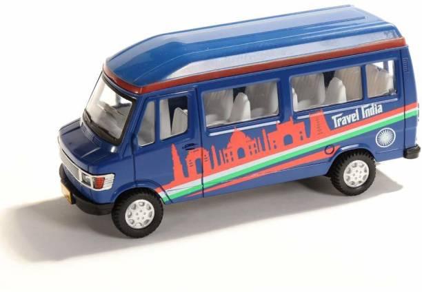 Servomate Pull back toys for kids Traveller India Bus