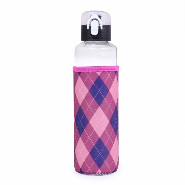 U-grow Glass Bottle Sipper with Lock & Insulation Cover for Baby Kids - 480 ml