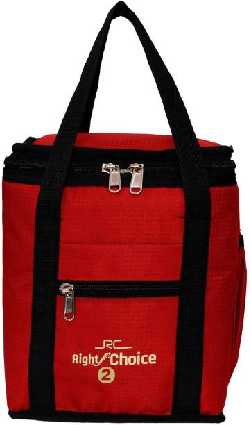 RIGHT CHOICE (2002 RED COLOR) Branded Premium Quality Carry on Tote for School Office Picnic Travel Camping Outdoor Pouch Holder Handbag Compact Heat Preservation Waterproof Hygiene Meal Prep Box Bag for Men Women and Kids, Small Travel Bag - midam sized 3 Containers Lunch Box bag Waterproof Lunch Bag Lunch Bag