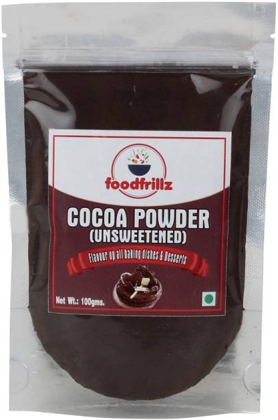 foodfrillz Premium Cocoa Powder (Dark) Malaysian Variety 100 g Cocoa Powder