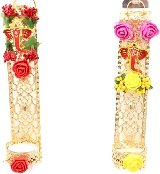 QUVYARTS Tea Light Candle Holder for Diwali, Christmas, Home Decoration Brass Tealight Holder Set