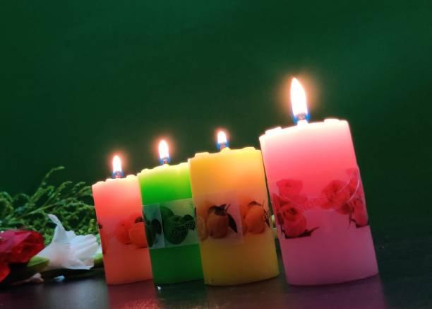 Flipkart SmartBuy Scented Lemon,Rose,Green-Apple & Orange Pillar Candle