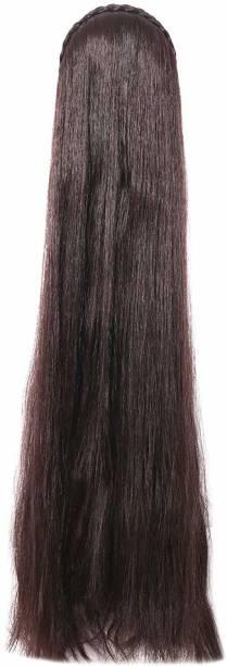 Gauri Uma Hair Style Brown color long straight hair with hair band Hair Extension