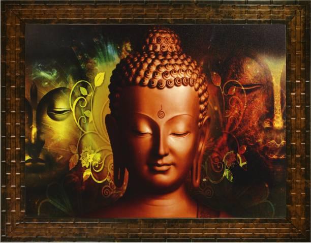 Indianara GAUTAM BUDHA (2207) WITHOUT GLASS Digital Reprint 10.6 inch x 13 inch Painting