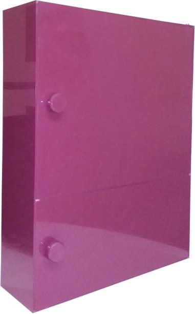 WINACO Aarti Burgundy Bathroom Storage Cabinet Fully Recessed Medicine Cabinet