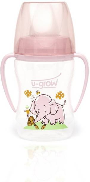 U-grow Training Cup with Silicone Spout, Pink