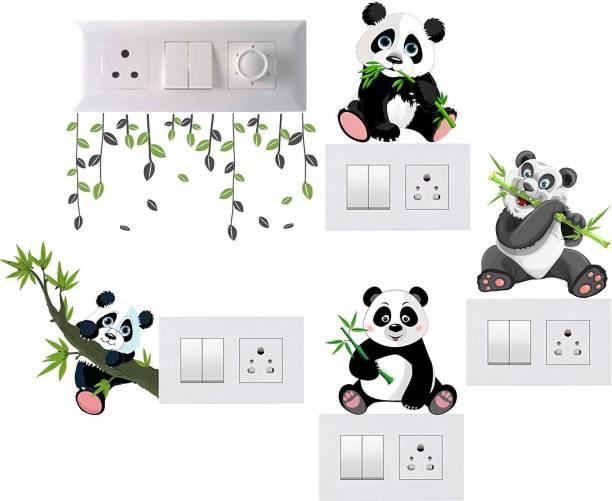 Pixel Print Medium Wall Sticker, Wall Art, Switch Board Sticker Fridge Sticker, Wall Stiker Set of 5
