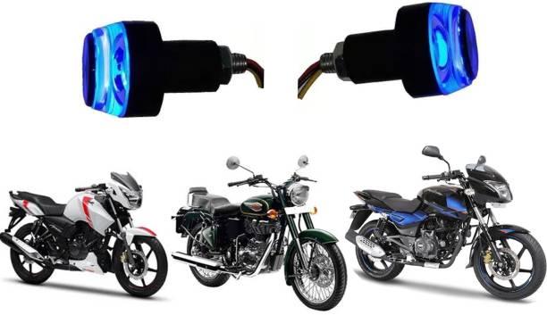 JCTEK Stylish Bike Bar End Front Side LED Indicator Light (Blue) Indicator Light, Brake Light, Side Marker Motorbike LED for Yamaha, Hero, Bajaj, TVS, Suzuki (12 V, 18 W)