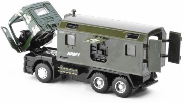 US1984 Die-Cast 4 Wheel Drive Metal Military Truck Pull Back