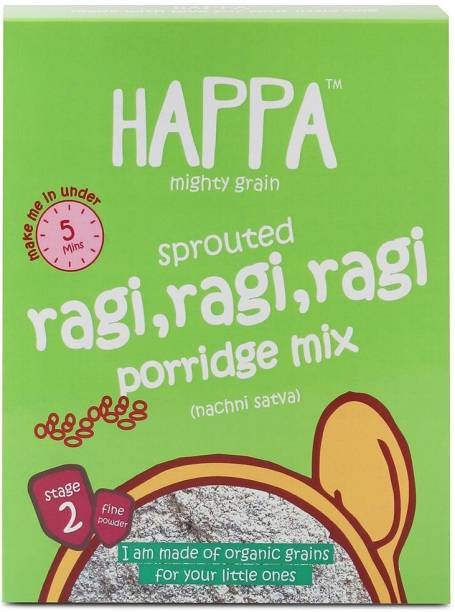 Happa Mighty Grain Sprouted Ragi&Cardamom Porridge Mix, baby food Cereal