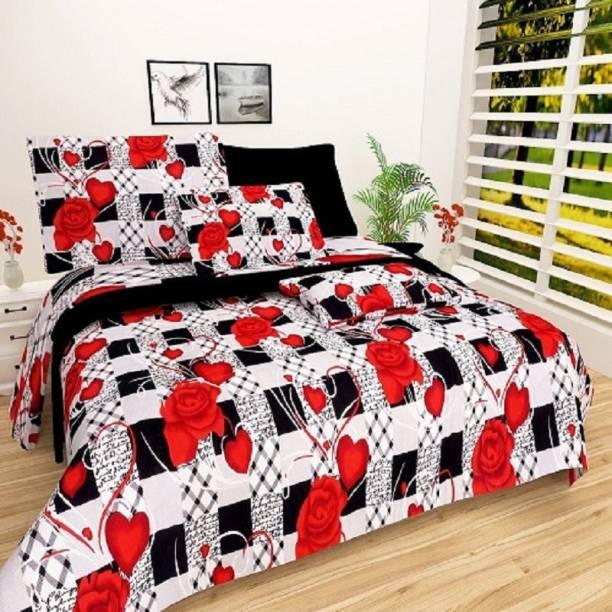 New Click Shop 144 TC Cotton Double Floral Bedsheet