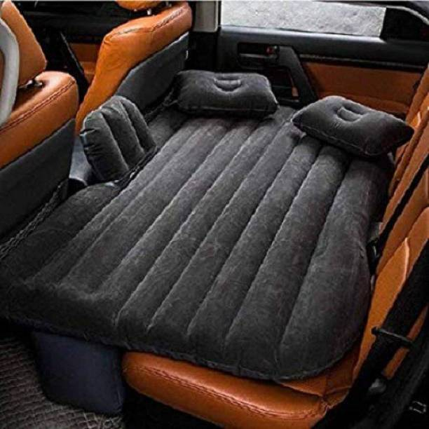WAIT2SHOP Polypropylene and Velvet Sleeping Back Seat with Electric Pump Car Inflatable Bed