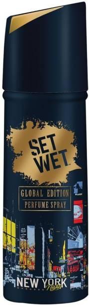 SET WET Global Edition New York Nights Perfume Body Spray  -  For Men