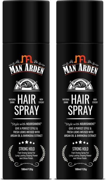 Man Arden Hair Spray Styling with Nourishment - Argan Oil and Bhringraj, Pack Of 2 Hair Spray