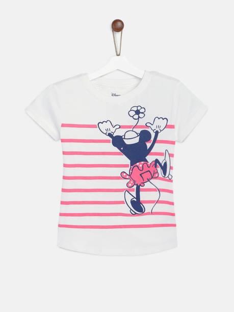 YK Disney Girls Printed Pure Cotton T Shirt