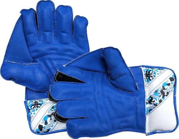 JetFire Practice Wicket Keeping Gloves Wicket Keeping Gloves (Men, Blue) Wicket Keeping Gloves
