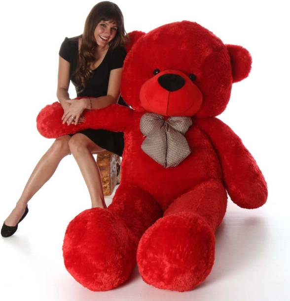 Buttercup Cute Bootsy Red 90 Cm 3 feet Huggable And Loveable For Someone Special Teddy Bear  - 90 cm