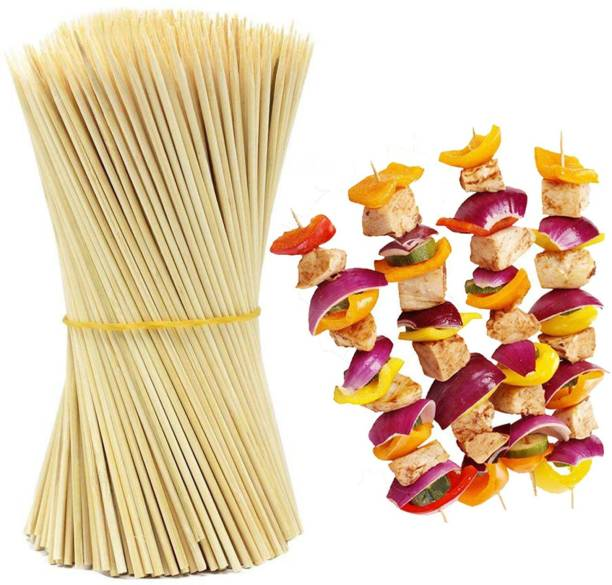 CREW4 Pin to Pen Tandoor Wooden Sticks Thick (10 INCH, 100 STICKS)