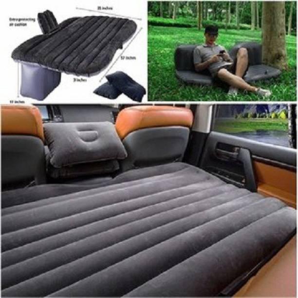 WAIT2SHOP Polypropylene and Velvet Car Inflatable Bed