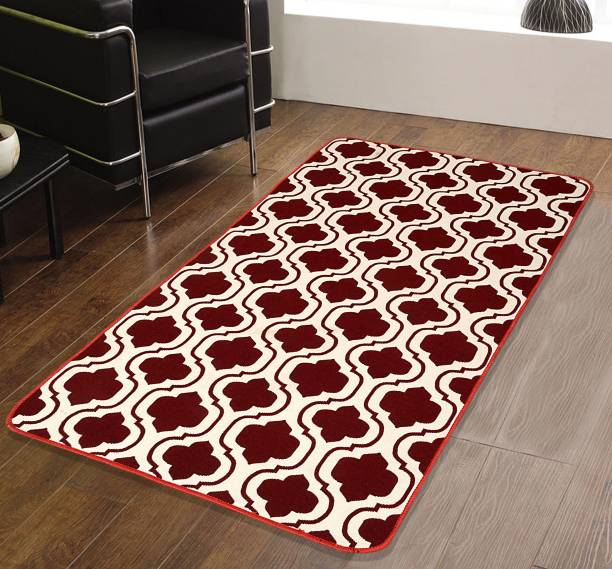 Saral Home Maroon Cotton Area Rug