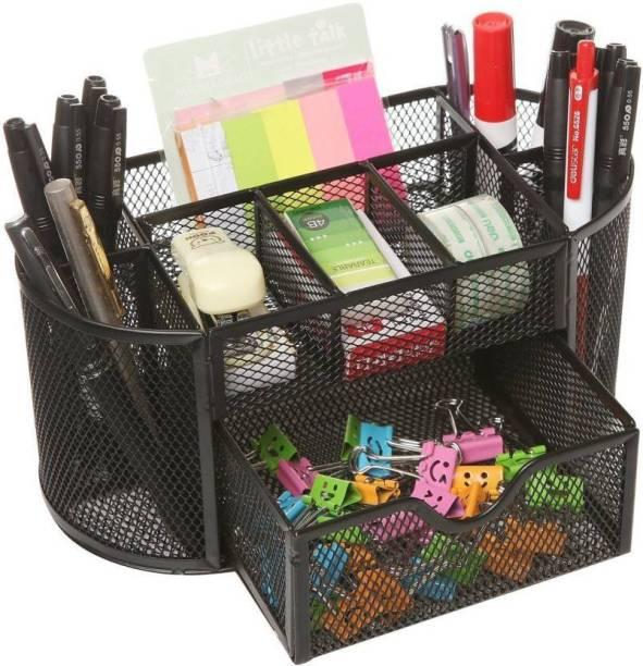 SHIVEXIM 9 Compartments Metal Metal Stationery Organizer
