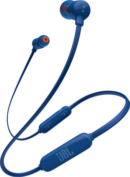 JBL T160BT Pure Bass Wireless in-Ear Headphones with Mic (Blue)