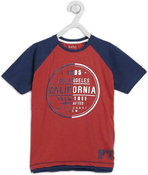 GINI & JONY Boys Printed Pure Cotton T Shirt