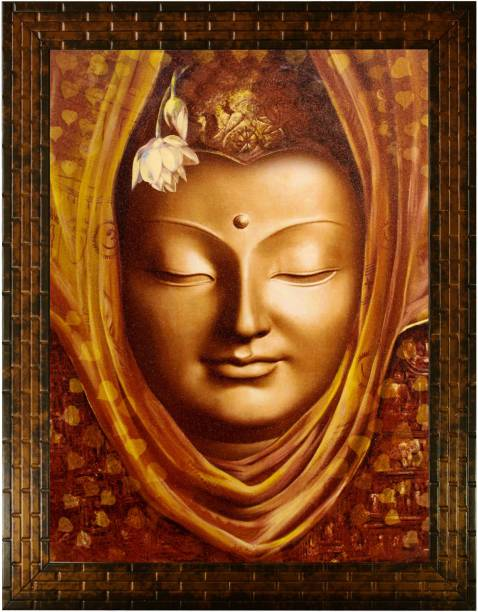 Indianara Gautam Budha 2323 Digital Reprint 13 inch x 10.2 inch Painting