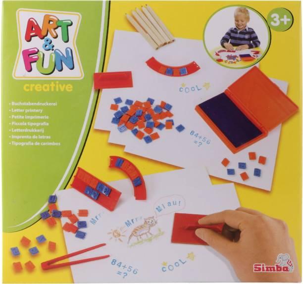 SIMBA Art and Fun Letter Kids Stamp Play Set