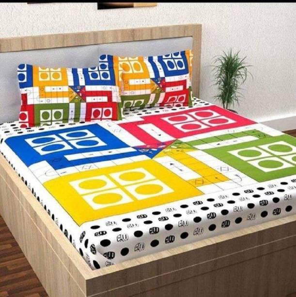 Panipat Textile Hub 150 TC Cotton Double Printed Bedsheet