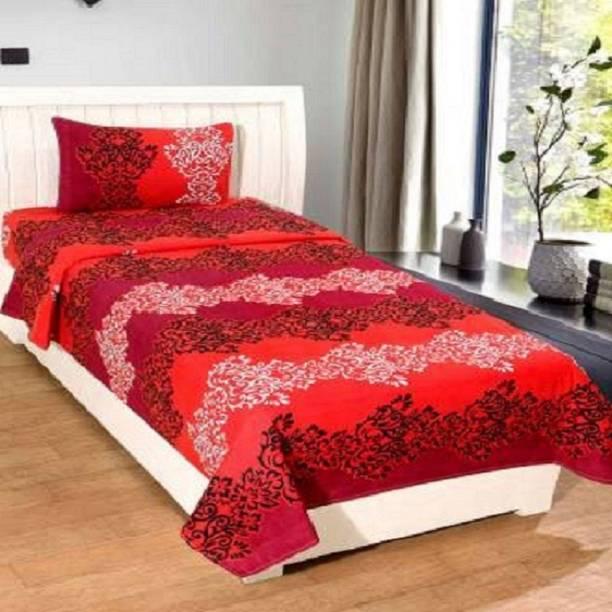 Panipat Textile Hub 120 TC Microfiber Single 3D Printed Bedsheet