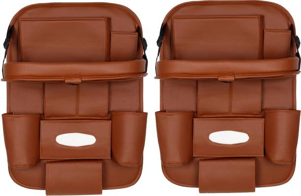 AutoFurnish Set of 2 - 3D Car Auto Seat Back Multi Pocket Car Storage Bag & Bin