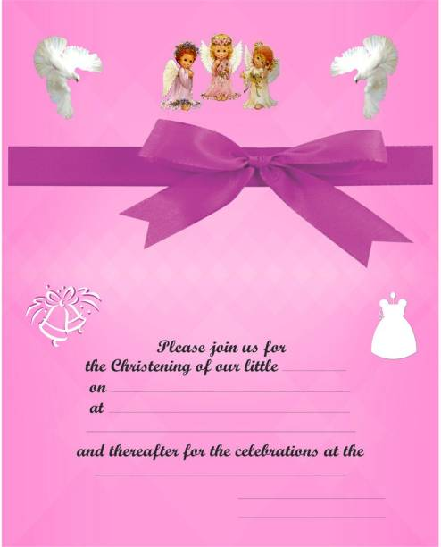Christian baptism3 Invitation Card