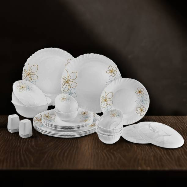 cello Pack of 25 Opalware Cello Dazzle Monarch Opalware Dinner Set, 25 Pieces Dinner Set