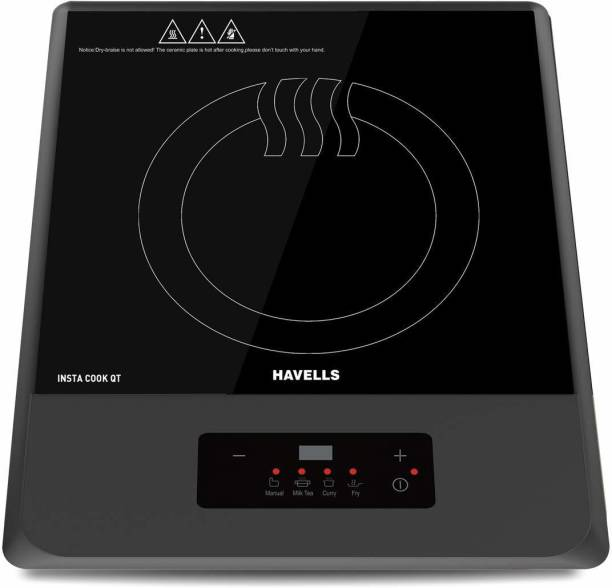 HAVELLS Insta Cook QT Induction Cooktop, Grey, 1200 W Induction Cooktop