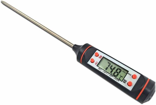 Gracy Mart Stainless Steel Probe Cooking Thermometer Baking Temperature Measurement Food Liquid Paste Oil Milk Tea Category Beer Thermometer with Fork Kitchen Thermometer