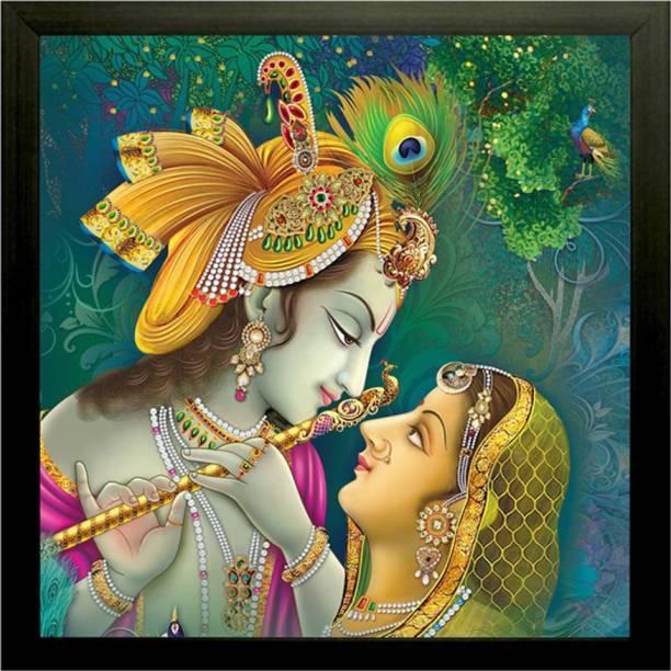 SAF Radha Krishna UV Ink 12 inch x 12 inch Painting