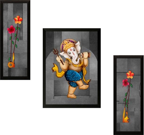 SAF Ganesh Modern art Ink 13.5 inch x 22 inch Painting