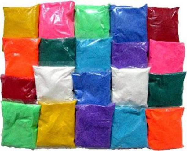 GW Creations Pack of 20 Rangoli Powder