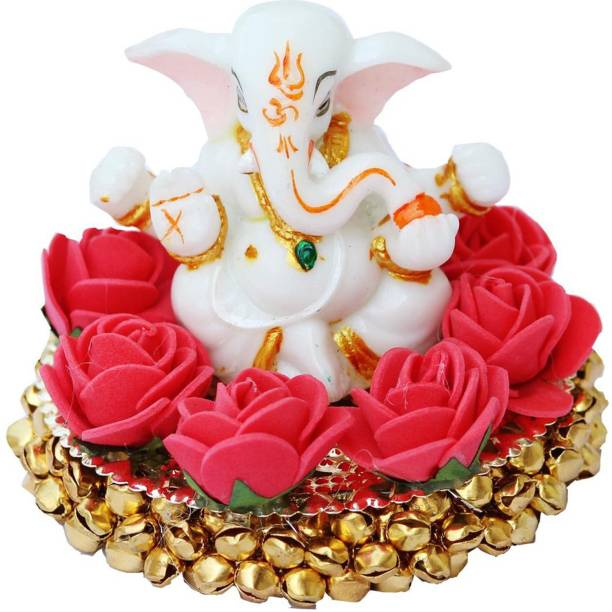 Craft Junction Blessing Lord Ganesha On Bangles Decorative Showpiece  -  9 cm