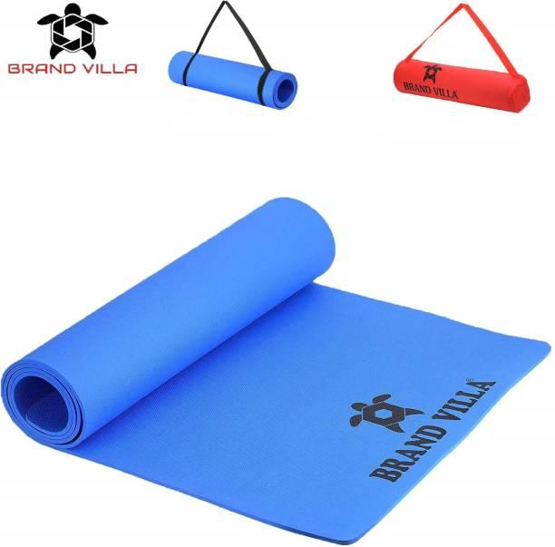 Brandvilla 100%EVA Eco Friendly Mat, 6mmExercise & Gym Mat With Bag Blue 6 mm Yoga Mat