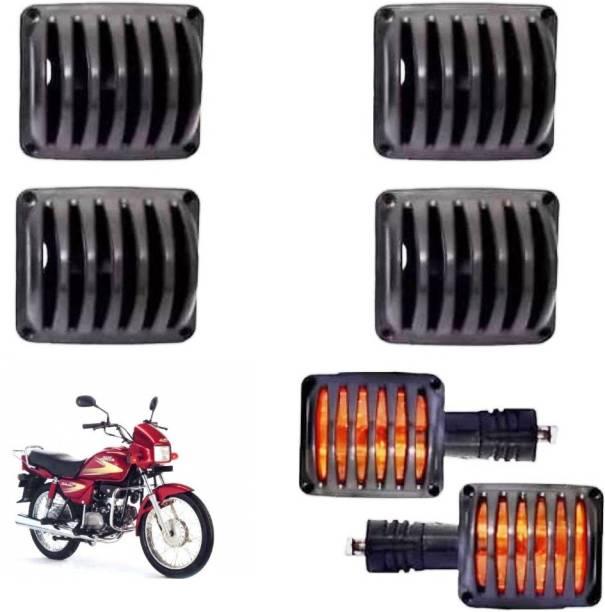 Wangsales Black Plastic Splendor Indicator Grill 01 Bike Headlight Grill