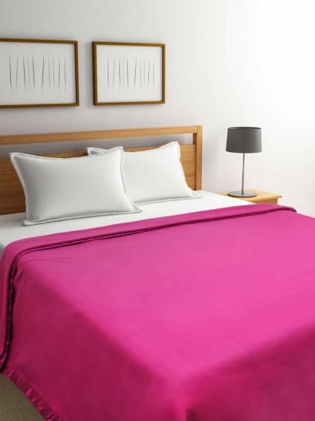 Raymond Home Solid Double Fleece Blanket