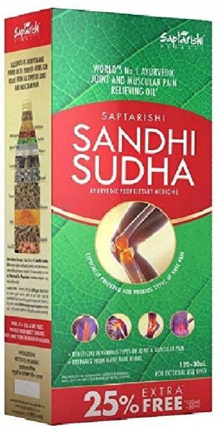 Sandhi Sudha Joint Pain Ayurvedic Oil (120ml+30ml) Liquid