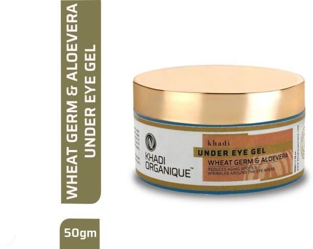 khadi ORGANIQUE Herbal Natural Under Eye Gel with Wheat Germ & Aloe Vera