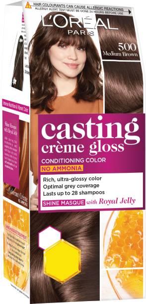 L'Oréal Paris Casting Creme Gloss Hair Color Small Pack , 500 Medium Brown