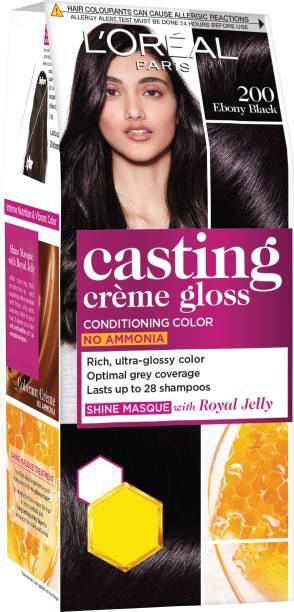 L'Oréal Paris Casting Creme Gloss Hair Color Small Pack , 200 Ebony Black